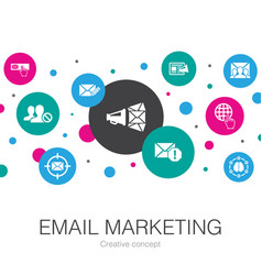 Email marketing trendy circle template with simple vector