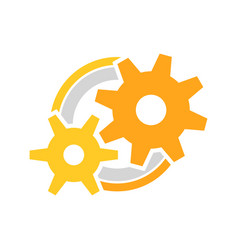 Engineer cog wheels setup symbol logo design vector