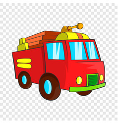 fire truck icon cartoon style vector image
