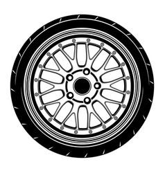 Flat car wheel 11 vector