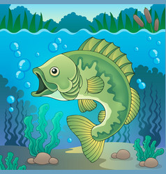 Freshwater fish topic image 1 vector