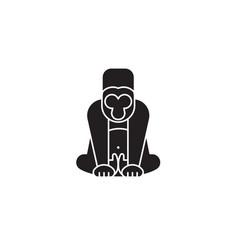 gorilla black concept icon gorilla flat vector image