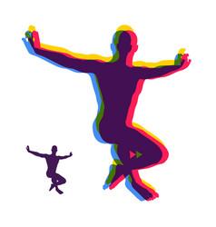 gymnast dancer sport symbol vector image