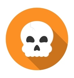 Halloween skull icon flat vector