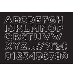 Hand drawin Handmade vintage alphabet handwritting vector