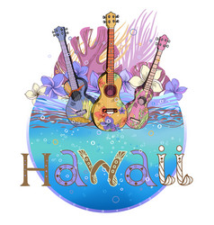 hawaiian postcard vector image