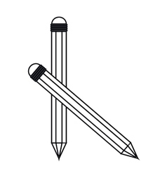 Isolated pencil tool design vector image
