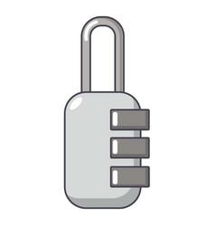 lock combination icon cartoon style vector image
