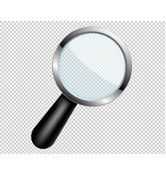 Magnifying glass with transparent lens vector