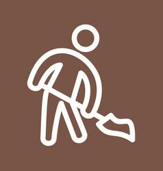 Man sweeping floor vector