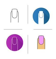manicure icon vector image