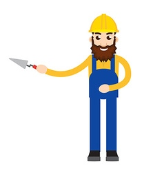 masonry character icon vector image