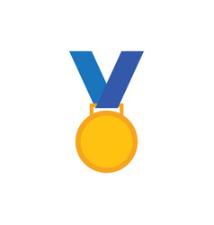 medal icon design template isolated vector image