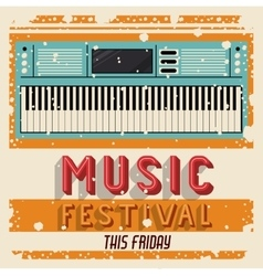 MUSIC FESTIVAL ISOLATED ICON DESIGN vector image