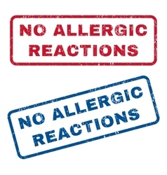 No allergic reactions rubber stamps vector