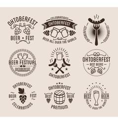 Oktoberfest beer festival lettering typography set vector