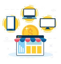 Online shopping design vector