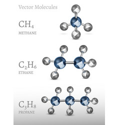 Propane ethane methane vector