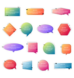 Quote frames collection vector