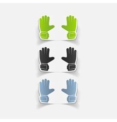 Realistic design element gloves vector