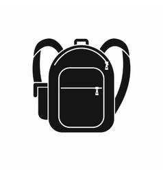 School bag icon simple style vector