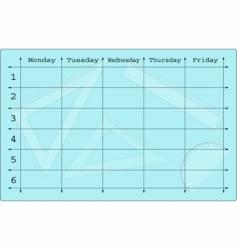 school scheduler with mathematical equipments vector image vector image