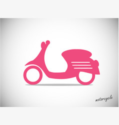 scooter retro icon vector image