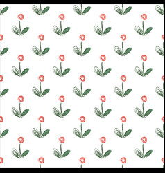 seamless floral pattern with hand drawn simple vector image