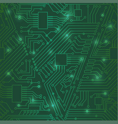 Seamless motherboard pattern vector