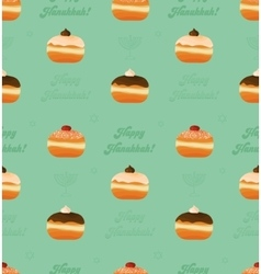 Seamless pattern traditional donuts and vector
