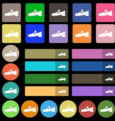 Shoe icon sign Set from twenty seven multicolored vector image