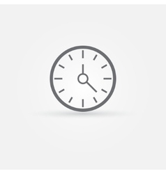 simple clock or time icon vector image