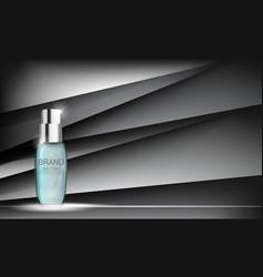 skin toner bottle tube template for ads or vector image