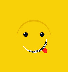 smiley day concept background flat style vector image