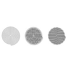 spiral stamp set vector image