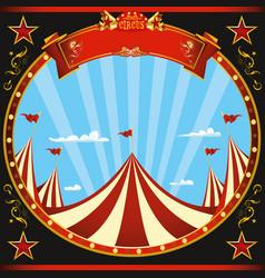 Square sticker black circus vector