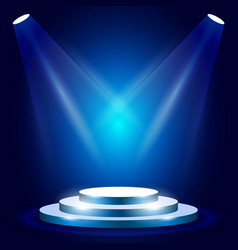 Stage or podium with spotlighting - award vector
