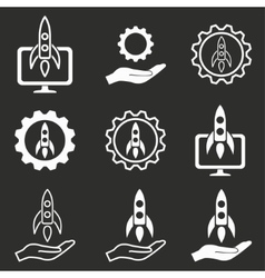Start up icon set vector
