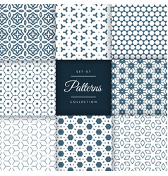 Stylish abstract patterns shapes background set vector