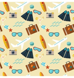 Summer seamless flat pattern vector
