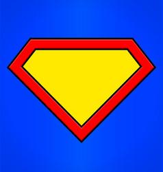 Super hero emblem background shape vector