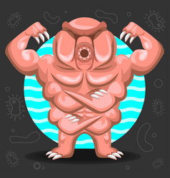 Tardigrade water bear vector