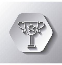 Trophy icon Winner design over hexagon vector