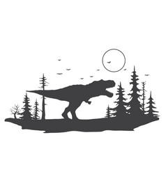 tyrannosaurus in forest vector image