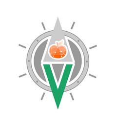 vegan nutrition guide emblem concept vector image