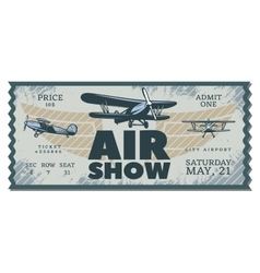 Vintage Air Show Pass Ticket vector image
