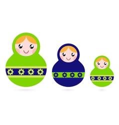matryoshka dolls vector image