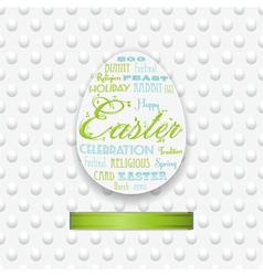 easter typography background with ribbon vector image