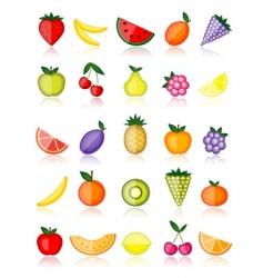 energy fruits vector image