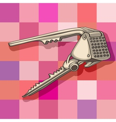garlic press vector image vector image